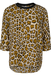 Dorset Animal Blouse | Råhvid/Leo | Bluse med leopardprint fra Co'Couture