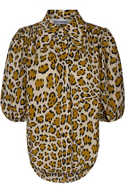 Dorset Animal Shirt | Råhvid/Leo | Skjorte med leopardprint fra Co'Couture