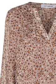 Cramps Boho Blouse | Lysegrå | Bluse med print fra Co'Couture