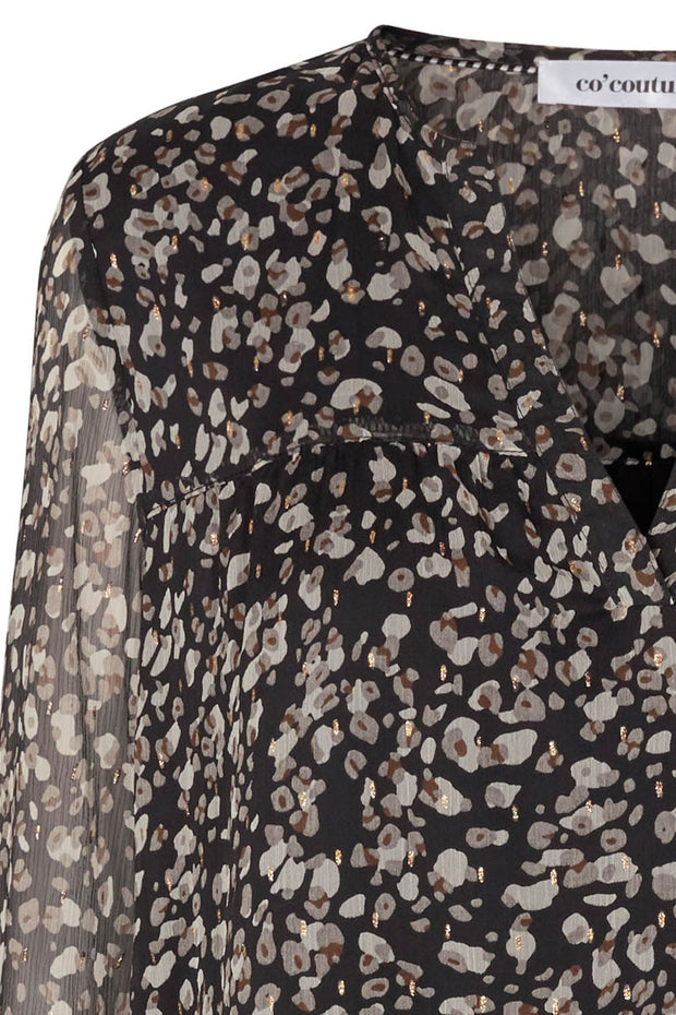 Cramps Boho Blouse | Sort | Bluse med print fra Co'Couture