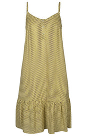 Sunnie albi dot strap dress | Gul | Strop kjole med prikker fra Co'couture
