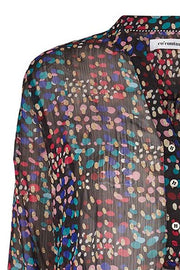 COCO FIREWORK L/S | Sort | Bluse fra CO'COUTURE