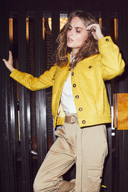 Rosalie Wool Coat | Yellow | Kort uld jakke fra Co'Couture