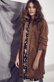 Kelly Corduroy Shirt Jacket | Walnut | Jakke fra Co'couture