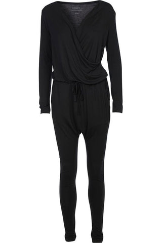 HEAT OF THE NIGHT LS | Sort | Jumpsuit fra COMFY COPENHAGEN