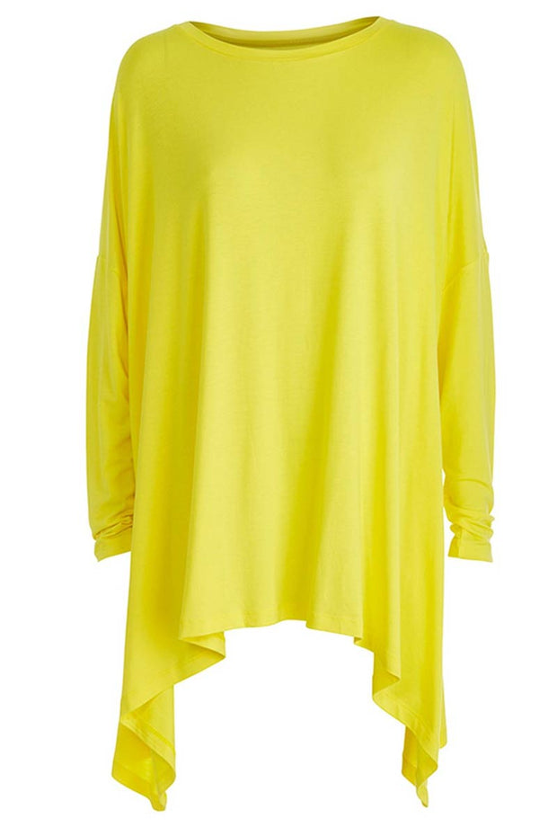 Love me a little | Yellow | Oversize bluse fra Comfy Copenhagen