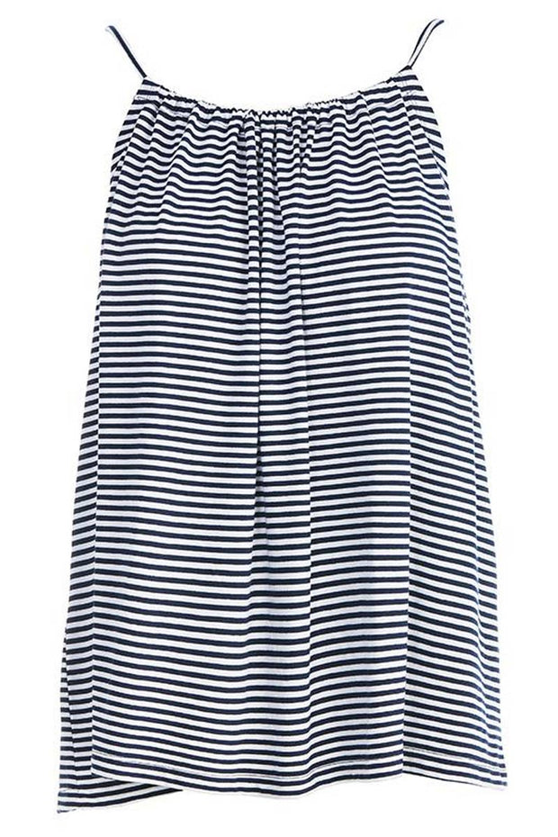 Another one bites the dust | Navy stripes | Strop top fra Comfy Copenhagen