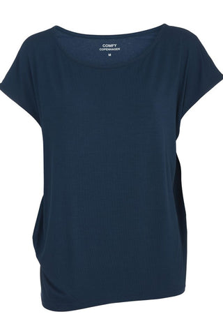 WITH OR WITHOUT YOU | Blue Summer | T-Shirt fra COMFY COPENHAGEN