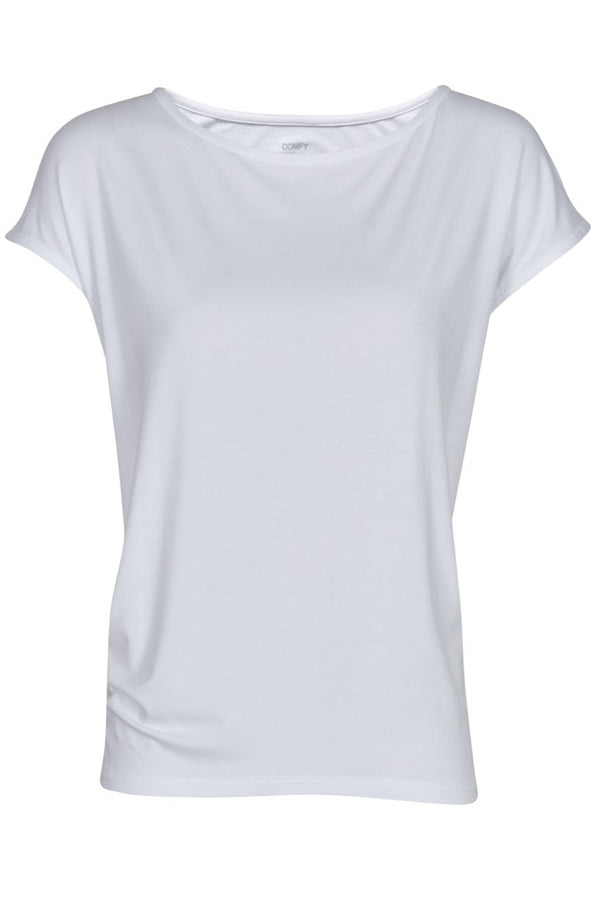 WITH OR WITHOUT YOU | Optic White | T-Shirt fra COMFY COPENHAGEN