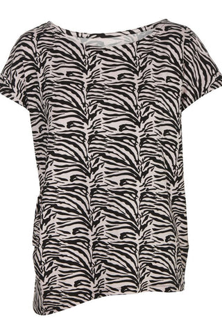 WITH OR WITHOUT YOU | Rose Zebra | T-Shirt fra COMFY COPENHAGEN