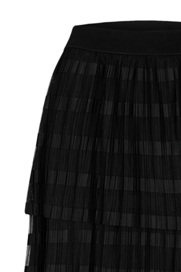 Taylor Mesh Skirt | Sort | Lang tyl nederdel fra Co'Couture