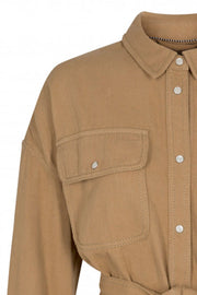 Khaki Denim Shirt | Khaki | Skjorte i denim fra Co'Couture
