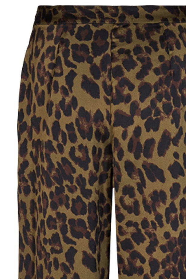 Gina Pa Wide G Leo | Army | Løse bukser med leopard print fra Cph Muse