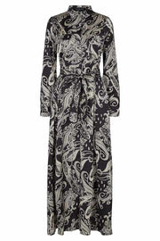 SWAY L DRESS | Black paisley print | Lang kjole fra CPH MUSE