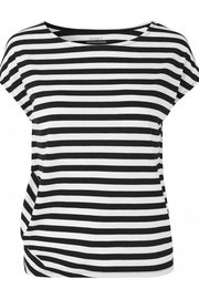 With Or Without You | Black/White stripe | Bluse fra Comfy Copenhagen