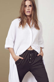 Crepe Tunic Shirt | White | Tunika fra Co'Couture