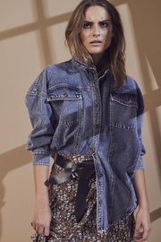 Zora Denim Shirt | Blue Stonewash | Skjorte fra Cocouture