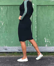 Comfy Copenhagen ApS Secrets Dress Black/Duck Green