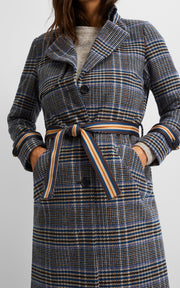 Soni Jacket Check | True Blue | Ternet jakke fra Freequent