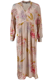 Elisa Silk Kaftan Dress | Rose Poppy | Kaftan fra Black Colour