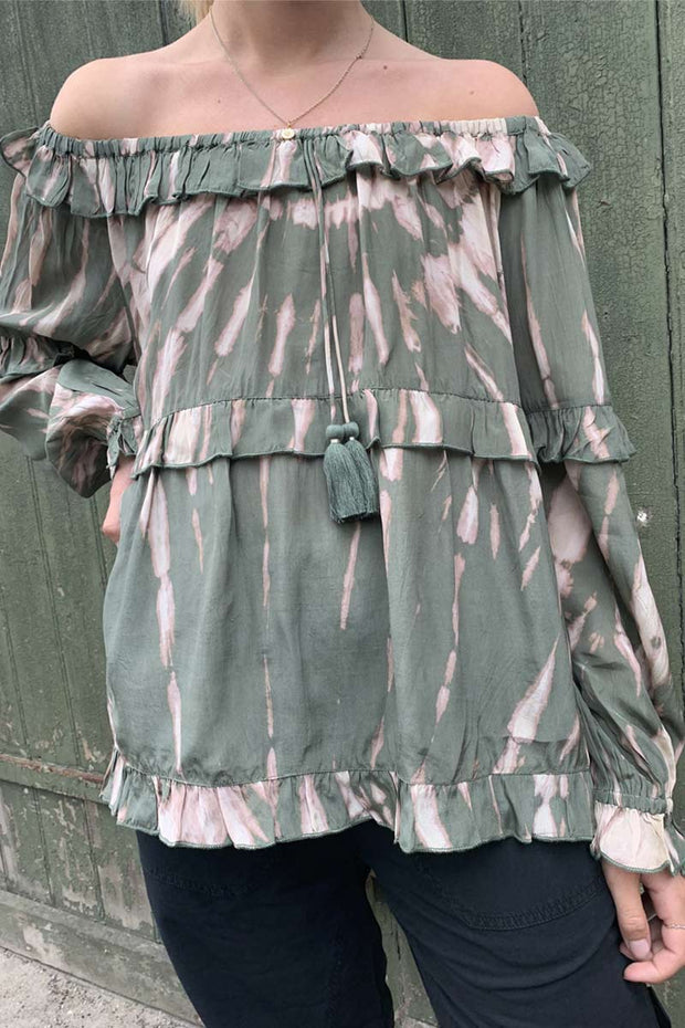 Fanny | Khaki Jungle | Tiedye bluse fra Project AJ 117