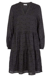Anglaise Dress | Sort | Kjole med broderie anglaise fra Freequent