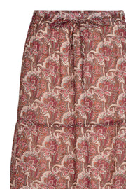 Emily long skirt | Brick red | Lang maxinederdel fra Freequent