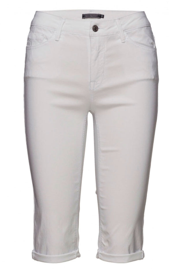 Amie-Sho-Denim | Bright White | Shorts fra FREEQUENT