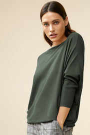 Jone-Pu | Olive night | Pullover fra Freequent