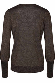 Mackie Pullover Balloon | Black / Copper | Pullover med glimmer fra Freequent