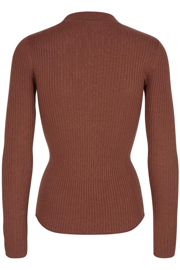 Viba Pullover V | Smoked Paprika | Pullover i rib fra Freequent