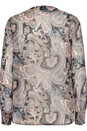 Tika Blouse Paisley | Woodrose Mix | Bluse med paisley fra Freequent