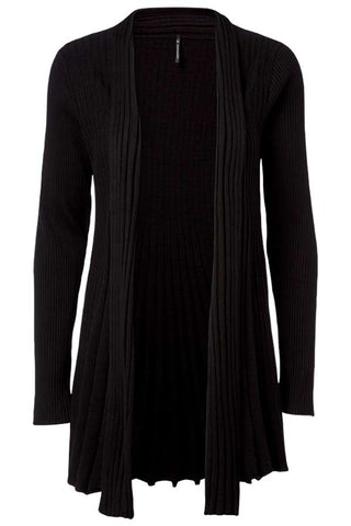 Claudisse Long Cardigan (black) Sort Freequent cardigan