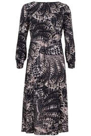 Long dress | Sort / brun | Lang kjole med print fra Gustav