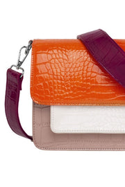 Cayman Pocket Multi  Bag | Orange | Multifarvet laktaske fra Hvisk