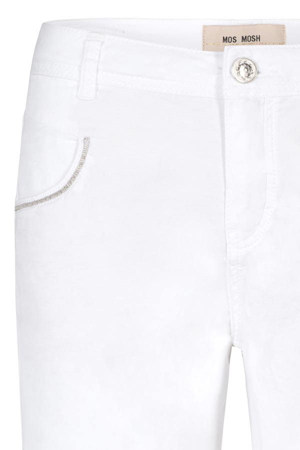 Nelly Block Shorts | White | Shorts fra MOS MOSH