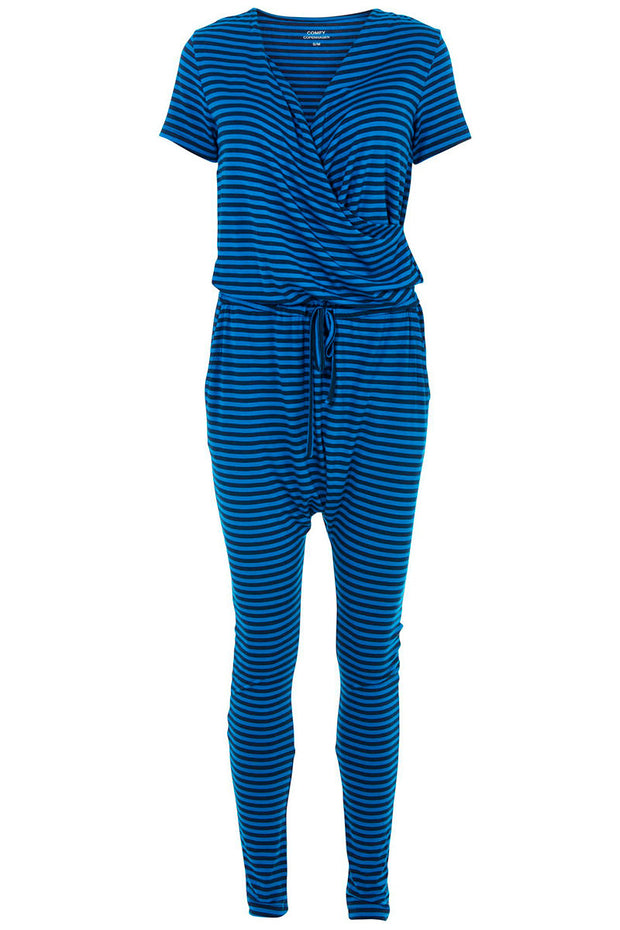 Heat Of The Night | Navy Stripes | Jumpsuit fra Comfy Copenhagen