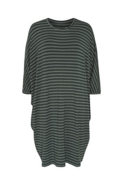 Comfy Copenhagen ApS Higher Love Dress Green Strips