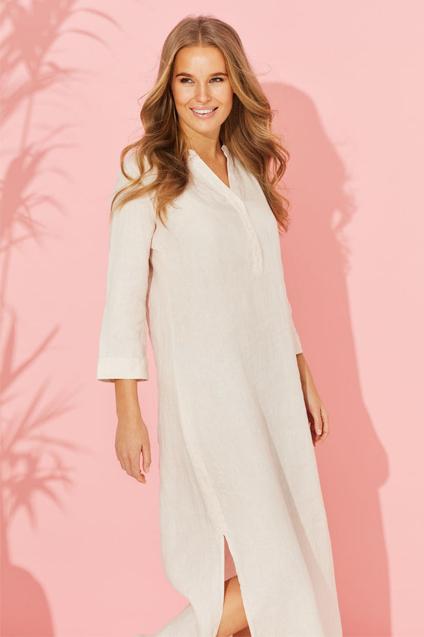 Shirt Dress | White | Skjorte kjole fra ILSE JACOBSEN