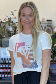 Lexa Love Tee | Bone | T-shirt/Top fra Co'couture