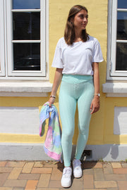 Naio Leggings | Mint | Leggings med struktur fra Liberté
