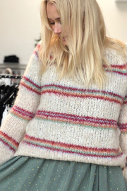 Tilde Knitted Sweater i Creme | Sweater fra Black Colour