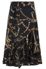 BLACK VINTAGE WRAP SKIRT | Sort | Nederdel fra KARMAMIA