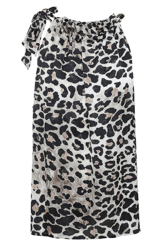 GRACE RUFFLE TIE TOP | Leopard | Top fra KARMAMIA CPH