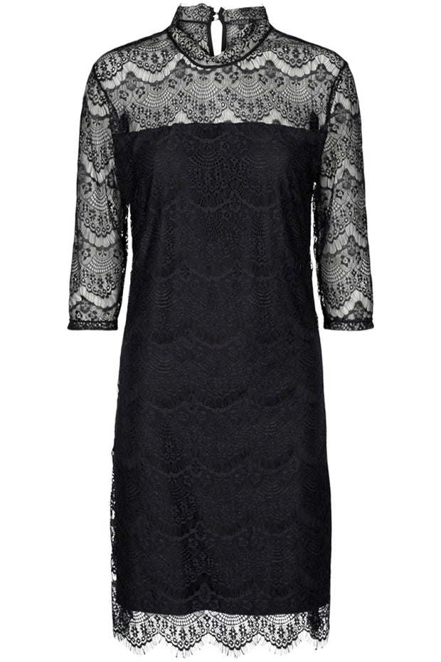 Alma Lace Dress | Sort | Blonde kjole fra Liberté