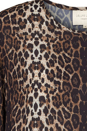 GILI DRESS | Leopard | Kjole fra LOLLYS LAUNDRY