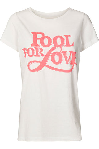 ROMA TEE | Hvid | Fool for Love t-shirt fra LOLLYS LAUNDRY