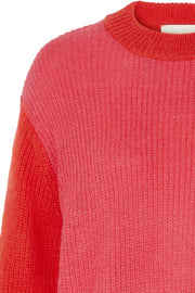 Ameli Jumper | Pink & Rød | Sweater fra Lollys Laundry