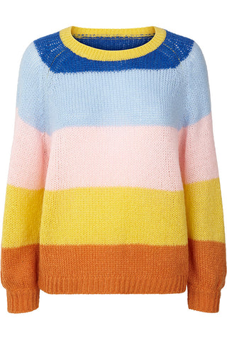 LANA JUMPER | Multi | Multi farvet sweater fra LOLLYS LAUNDRY