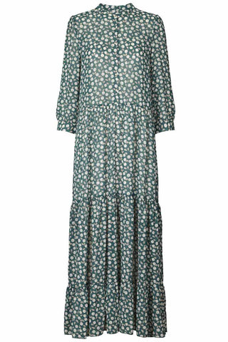 NEE DRESS | Dark Green | Lang maxikjole fra LOLLY'S LAUNDRY
